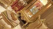 تزیین ظروف داخل بوفه و ویترین جهیزیه عروس