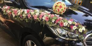 گل آرایی ماشین عروس ژورنالی در تهران