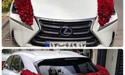 ماشین و دسته گل عروس گل آرایی مشهد