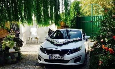 گل آرایى ماشین عروس در تهران