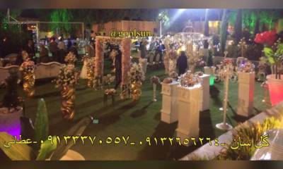 گل آرایی باغ گل سان اصفهان