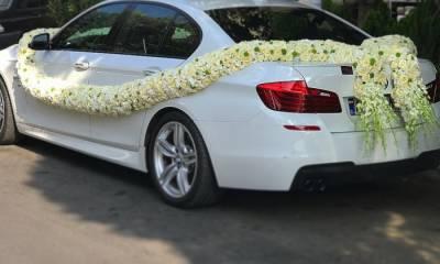 گل آرایی ماشین عروس گل خوشه اصفهان