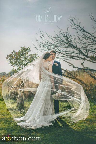 40 عکس عروس و داماد 2021 در باغ با ژست های متنوع