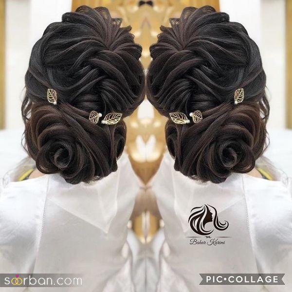60 مدل مو عروس با مو مشکی جدید 2021