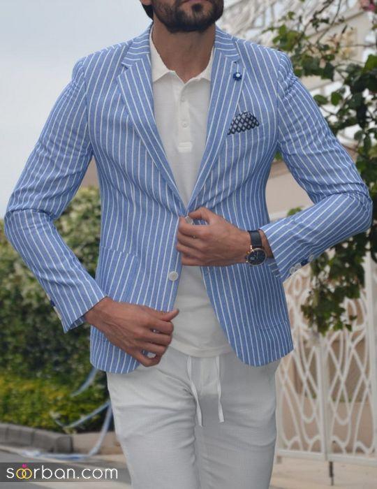 مدل کت و شلوار مردانه اسپرت ۲۰۲۲ با طرح لاکچری و جدید (رنگ های روشن