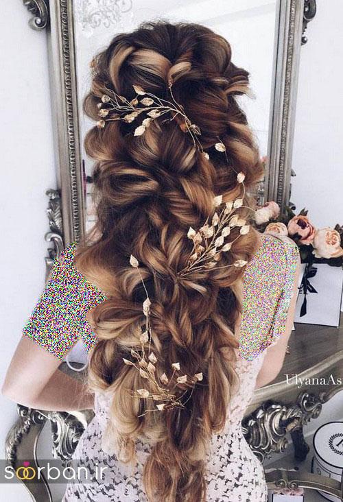 مدل مو عروس برای مو بلند3