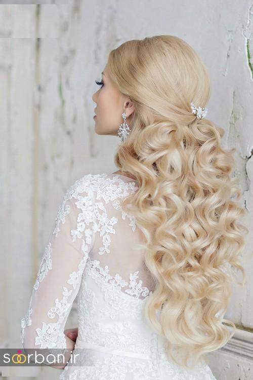 مدل مو عروس برای مو بلند4
