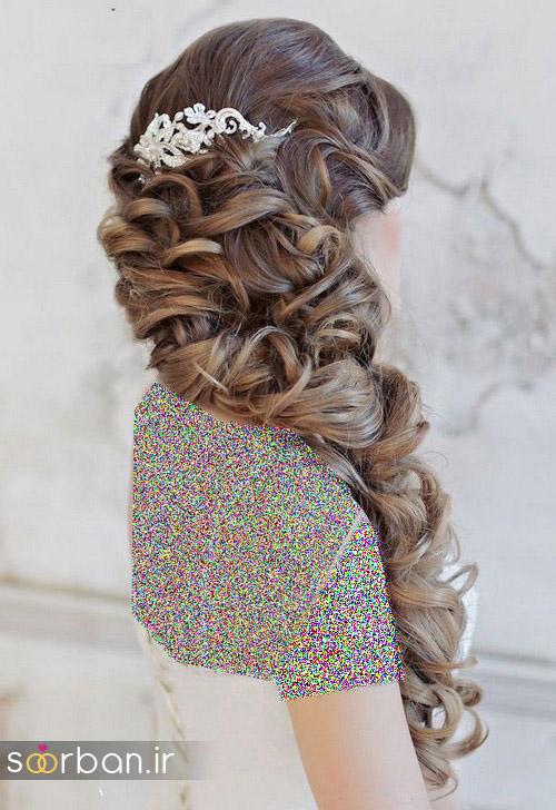 مدل مو عروس برای مو بلند5
