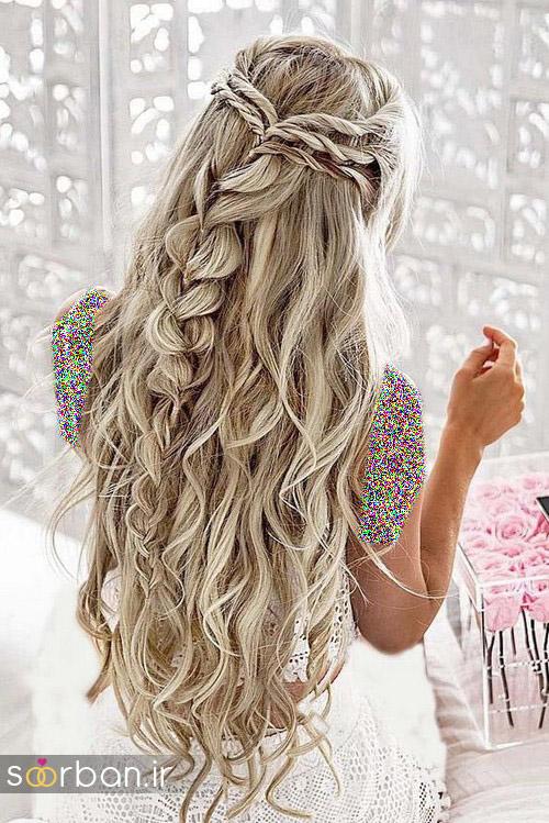 مدل مو عروس برای مو بلند6