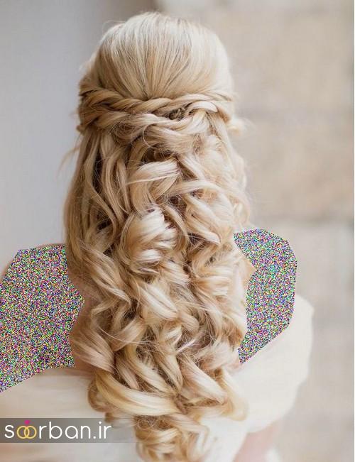 مدل مو عروس برای مو بلند9