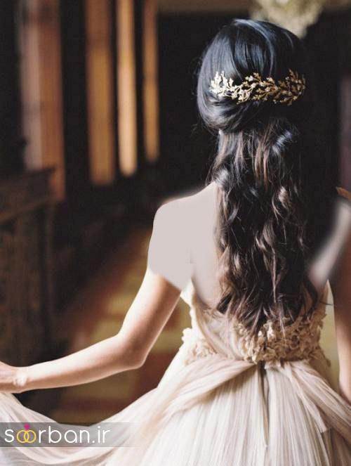 مدل مو عروس برای مو بلند14