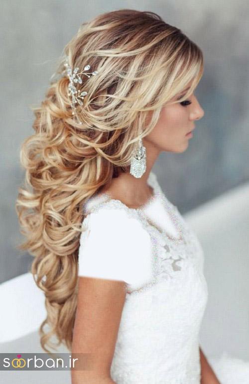 مدل مو عروس برای مو بلند15