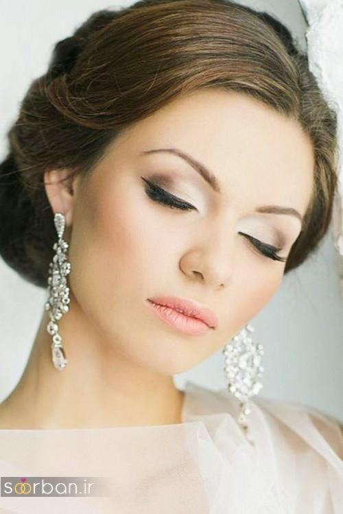 مدل آرایش عروس به سبک اروپایی جدید