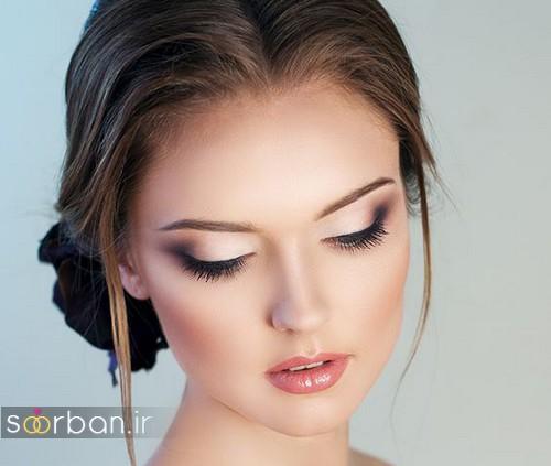 مدل آرایش لایت عروس به سبک اروپایی 2017