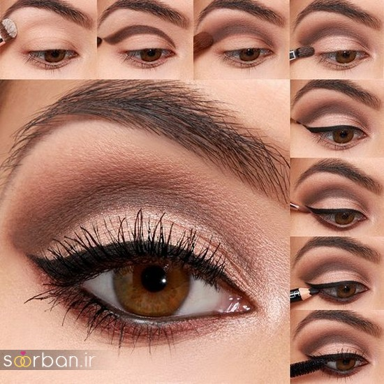 آموزش گام به گام زیباترین مدل های آرایش و سایه چشم مجلسی و عروس-3