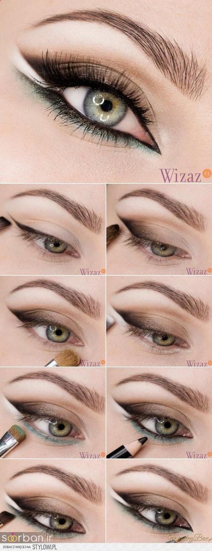 آموزش گام به گام زیباترین مدل های آرایش و سایه چشم مجلسی و عروس-10