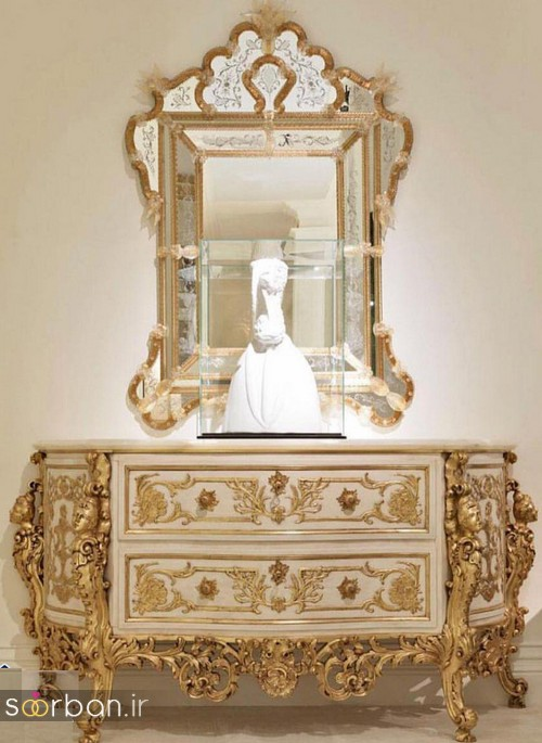 آینه کنسول جهیزیه عروس جدید