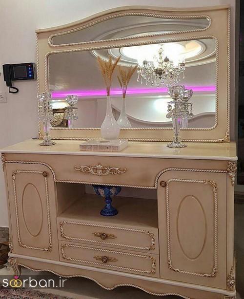 آینه کنسول جهیزیه عروس شیکبا کمربند پاپیون