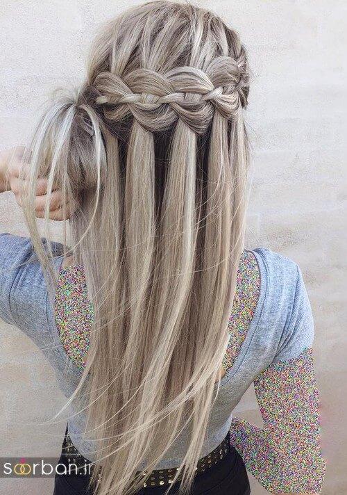 مدل بافت مو دخترانه مجلسی و نامزدی جدید23