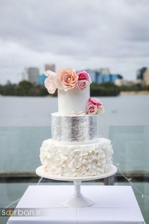 کیک عروسی خاص و درخشان15