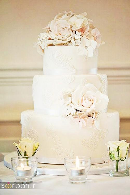 محبوبترین کیک های عروسی با کمربند پاپیون