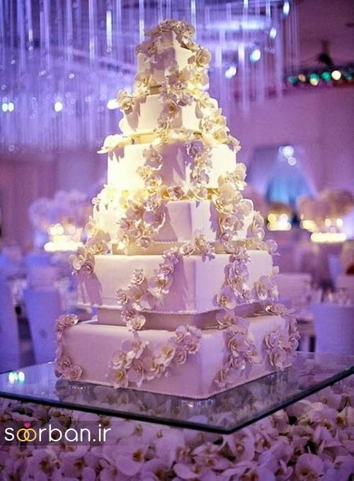 باشکوه ترین و لوکس ترین کیک های عروسی 11