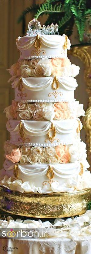 باشکوه ترین و لوکس ترین کیک های عروسی 12