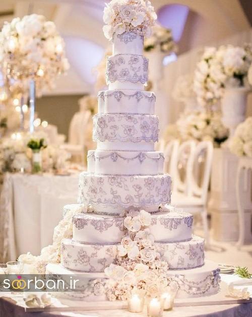 باشکوه ترین و لوکس ترین کیک های عروسی 14