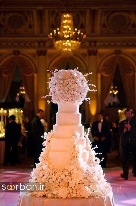 باشکوه ترین و لوکس ترین کیک های عروسی 16