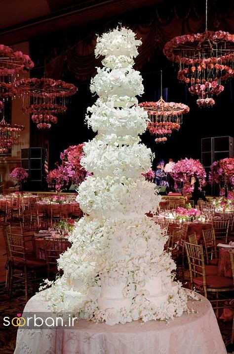 باشکوه ترین و لوکس ترین کیک های عروسی 17