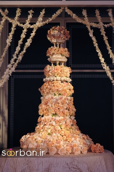 باشکوه ترین و لوکس ترین کیک های عروسی 21