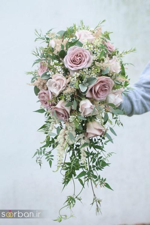 دسته گل عروس آبشاری زیبا و جدید5
