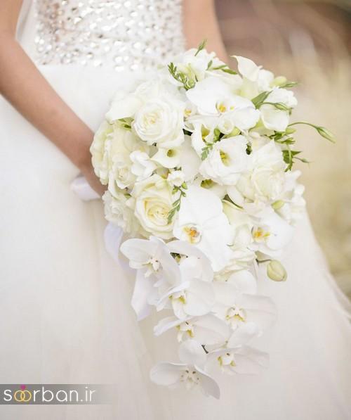 دسته گل عروس آبشاری زیبا و جدید6