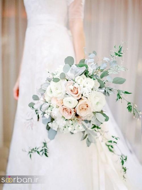 دسته گل عروس آبشاری زیبا و جدید13