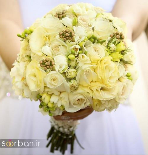 دسته گل عروس جدید ایرانی زرد 96 2017