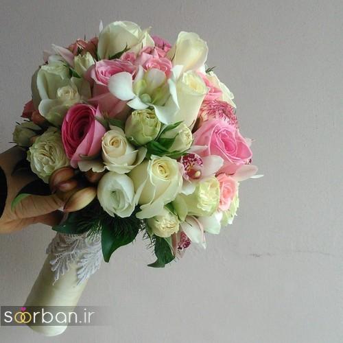 عکس مدل دسته گل عروس جدید ایرانی 96 با گل رز