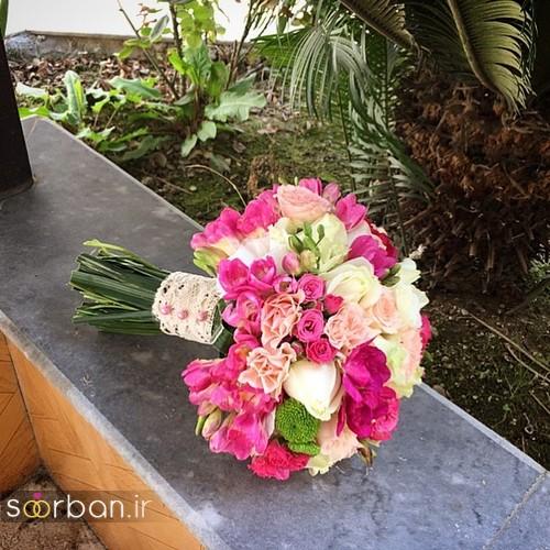 دسته گل عروس جدید ایرانی 96 شیک و زیبا