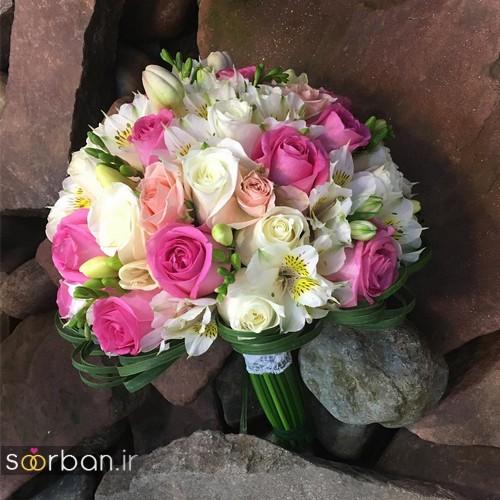 دسته گل عروس جدید ایرانی 96