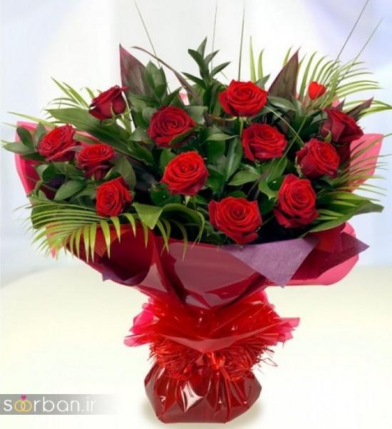 مدل دسته گل رز قرمز جدید-5