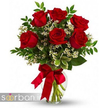 مدل دسته گل رز قرمز جدید-13