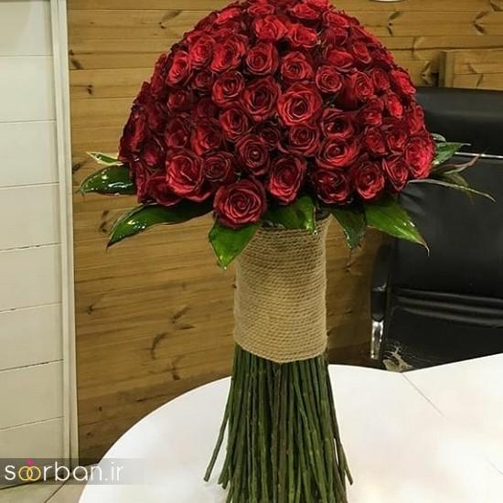مدل دسته گل رز قرمز جدید-19