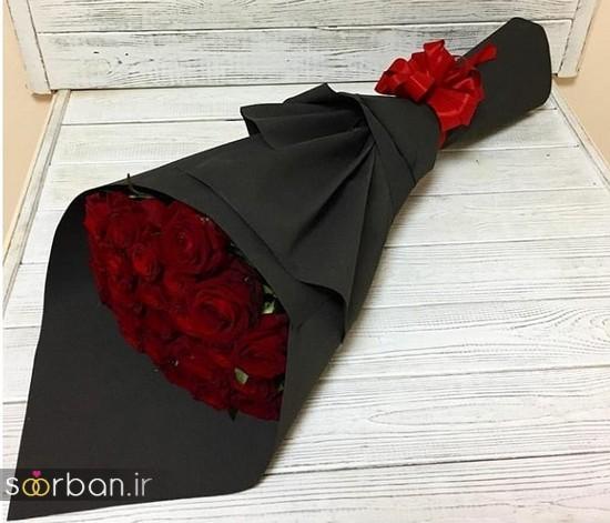 مدل دسته گل رز قرمز جدید-20