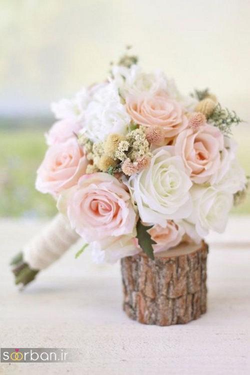 دسته گل عروس جدید 2017 زیبا و رومانتیک