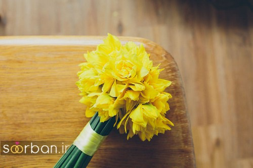 دسته گل عروس نرگس زیبا 14