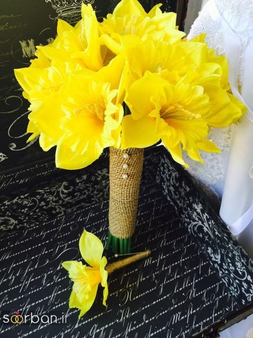دسته گل عروس نرگس زیبا 6