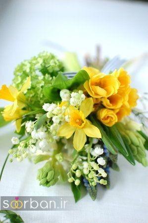 دسته گل عروس نرگس زیبا 3