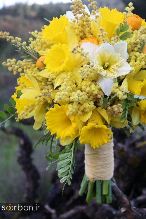 دسته گل عروس نرگس زیبا 4