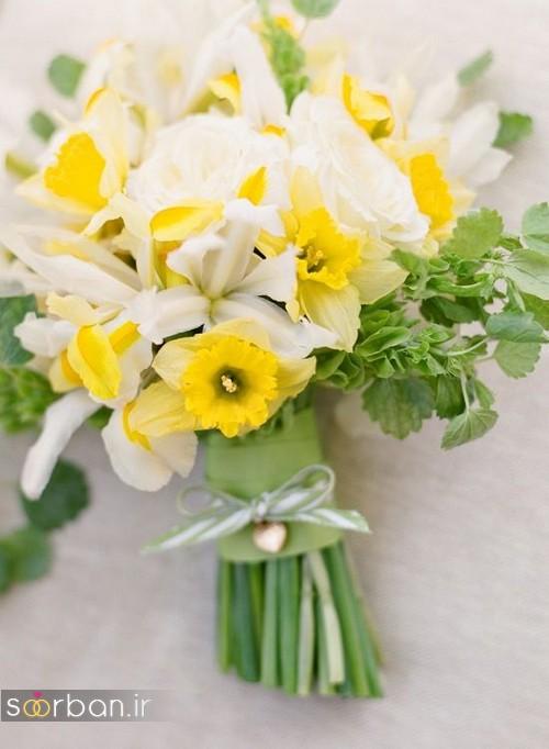 دسته گل عروس نرگس زیبا 9