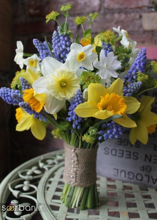 دسته گل عروس نرگس زیبا712