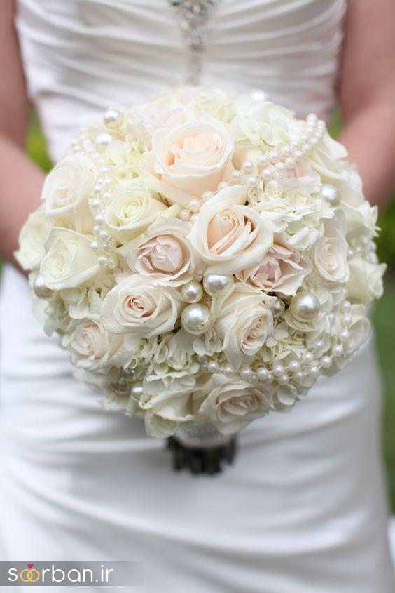 دسته گل عروس رز سفید13